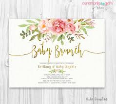 baby brunch invitations floral baby shower invitation brunch for baby invitation