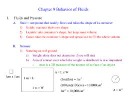 forces in fluids practice problems