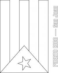 puerto rico flag coloring page contegri com