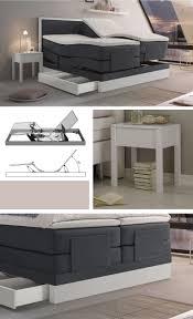 Schlafzimmer Betten Komforth E Elektrisch Verstellbares Boxspringbett Mit Integriertem Stauraum