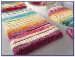 Colorful Bathroom Rugs Attractive Striped Bath Rug With Adorable Striped Bath Rug