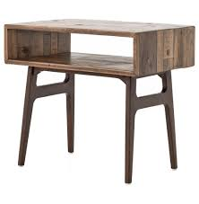 Contemporary Rustic Wood Furniture Ryan Reclaimed Wood Modern Rustic Geometric Nightstand Kathy Kuo