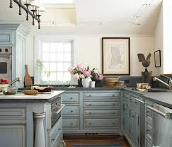 Blue Painted Kitchen Cabinets Shabby Chic Kitchen Cabinets Home And Interior