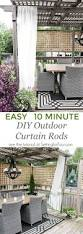easy diy outdoor curtain rods in 10 minutes setting for four