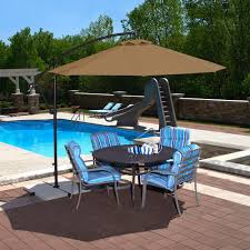 Olefin Patio Umbrella Island Umbrella Santiago 10 Ft Octagonal Cantilever Patio