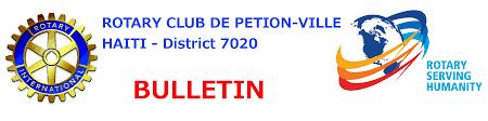 cérémonie de passation au rotary club de petion ville bulletin