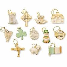 lenox luck of the miniature tree ornaments set of 12 st