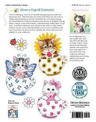 teacup kittens coloring book design originals import