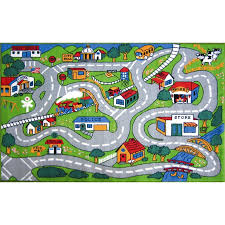 Kid Rug Time Country Road Indoor Outdoor Area Rug Country Road