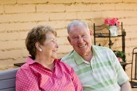 Bench Couple Shirt - elderly couple