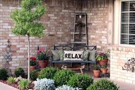 front porch decorating ideas front porch decor a ladder and a stool front porch decorating ideas