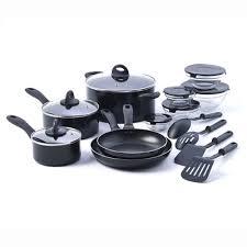 Basic Kitchen Essentials Basic Essentials 17 Piece Non Stick Kitchen Starter Cookware Set