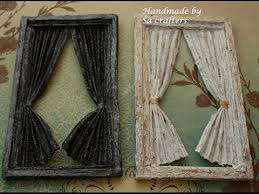 shabby chic window with curtain tutorial part 1 youtube
