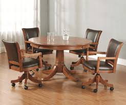 Rolling Dining Room Chairs Dinette Chairs With Casters Casters Images Kitchen Chairs With
