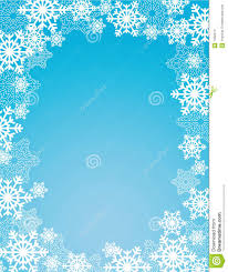winter snowflakes frame stock images image 7402214