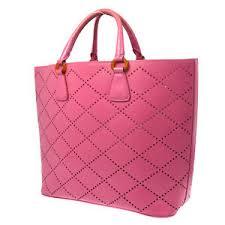 100 authentic prada logos tote bag pink pvc made in italy