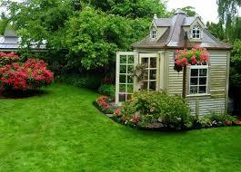 garden foxy small backyard landscaping decoration using solid oak