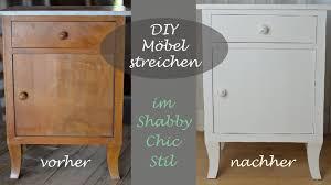 Wohnzimmerschrank Segm Ler Diy Ein Altes Schränkchen Mit Weißer Kreidefarbe Im Shabby Chic