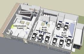auto body shop floor plans vision one91 construction update july 20 2015 isd 191