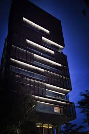 commercial building outside lighting hotel proverbs taipei architecture lighting ray chen partners