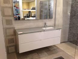 arredo bagno outlet berloni mobile linea menphis con top in cristallo e lavabo