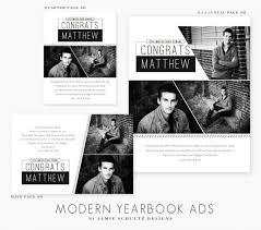 modern yearbook ad templates by jamie schultz designs jamie
