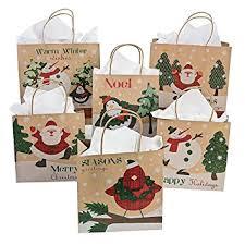 christmas wrap bags one dozen paper christmas craft bag assortment