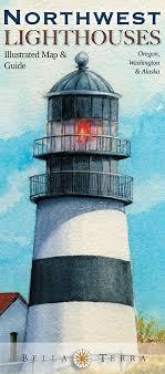 map of oregon lighthouses northwest lighthouses illustrated map guide oregon washington