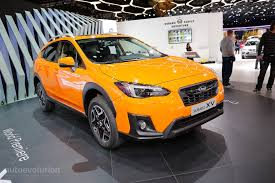 orange subaru impreza 2018 subaru xv debuts in geneva as impreza u0027s rugged brother