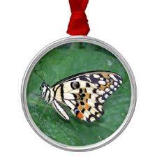 white black yellow butterfly ornaments keepsake ornaments zazzle