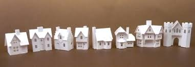 tiny 2013 is a set of 8 miniature paper buildings