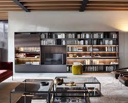 arredo librerie librerie di design moderno arredo a parete per tv e media molteni c