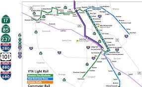 san jose light rail map san jose light rail map santa clara mapsof net