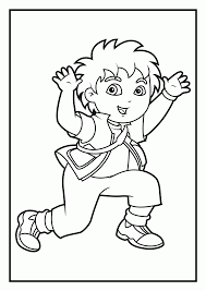 dora diego coloring pages coloring home