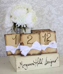 rustic table numbers shabby chic wedding decor diy place card