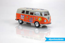 volkswagen van hippie 1962 volkswagen classical hippie bus 1 32 scale die cast orange