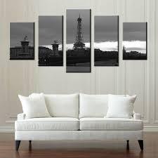 Eiffel Tower Room Decor Eiffel Tower Black U0026 White Photo Prints Canvas Painting Wall Art