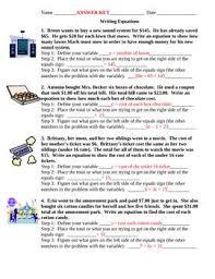 equation word problems worksheet worksheets