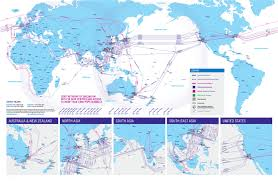 New Zealand On World Map by Our Network Map Telstra