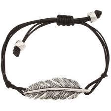 fossil silver bracelet images Fossil dream weaver leather feather bracelet vintage silv out=j