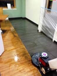 deep cleaning porcelain floor tiles at an nhs hospital in