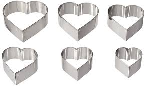 amazon com ateco graduated heart cookie cutters set of 6
