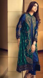 gown style dresses buy navyblue green embroidered chiffon gown style dress by