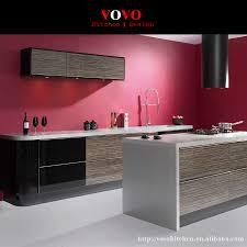 online get cheap kitchen wood cabinet aliexpress com alibaba group luxury modern high gloss wood grain laminate kitchen cabinets