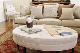 leather ottomans coffee table storage club furniture oval tufted