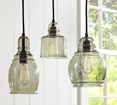 Industrial Glass Pendant Lights Pendant Lights For An Industrial Farmhouse Kitchen Design