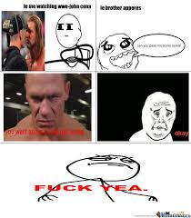 Funny John Cena Memes - acting like john cena by marzok meme center