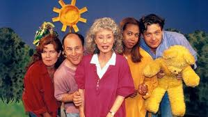 trisha goddard second from right with play school presenters