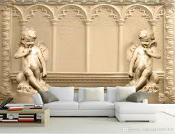 Wall Murals 3d Hd 3d Stereo Cupid Embossed European Background Wall Mural 3d