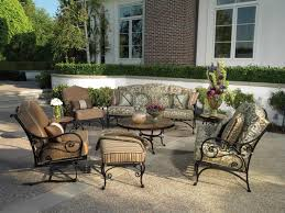 Patio Wrought Iron Furniture by Prepossessing Backyard Exterior Decor Display Stunning Outdoor